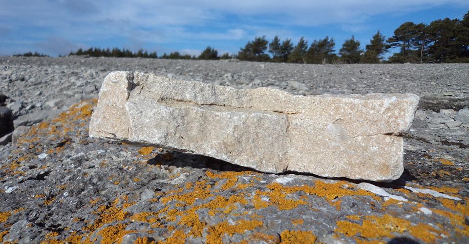 Kalk-sten består av  kalciumkarbonat - en förening mellan kalcium, kol och syre. Buttle Kalk AB äger ett stenbrott ungefär 1 km från ugnen. Här bryts stenen, lastas på vagn och körs den korta biten till ugnen.